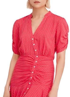 Free People Pippa Polka-Dot Mini Dress