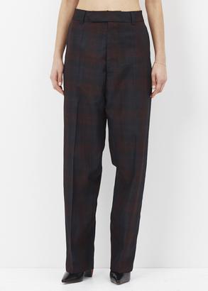 Vetements burgandy baggy suit pants $1,265 thestylecure.com