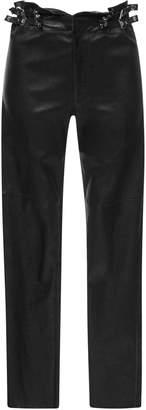 Isabel Marant Meydie Buckle-Embellished Stretch Leather Pant
