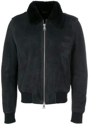 Ami Alexandre Mattiussi Shearling Zipped Jacket