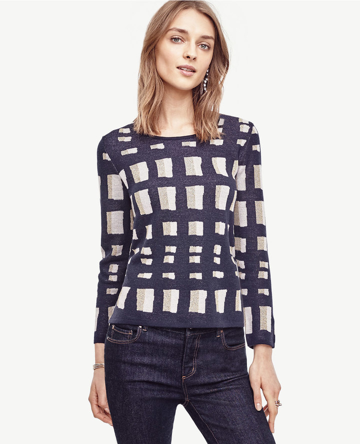 Ann Taylor Petite Lattice Knit Topper