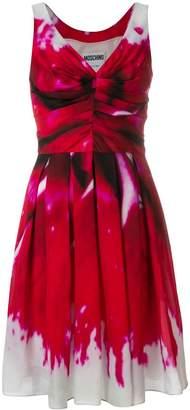 Moschino ruched bodice dress