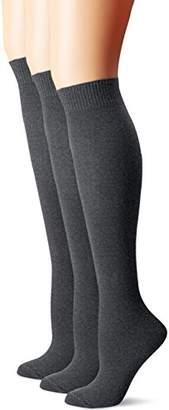 Hue Women's Flat Knit Knee Socks (Pack of 3)