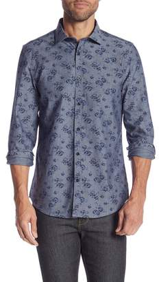 Paisley & Gray Floral Long Sleeve Slim Fit Shirt