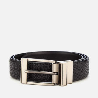 Ted Baker Men's Tatti Textured Reversible Belt - Black - W30 - Black