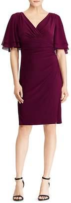 Lauren Ralph Lauren Flutter-Sleeve Jersey Dress