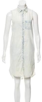 Rag & Bone Sleeveless Denim Shift Dress