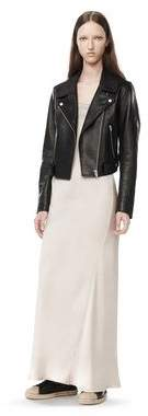Alexander Wang Waxy Leather Cropped Moto Jacket