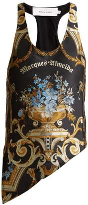 Marques'almeida - Floral Brocade Tank Top - Womens - Black Gold