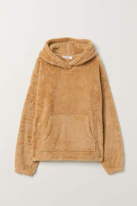 H&M Pile Hooded Top - Beige