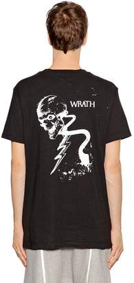 RtA Gothic Skull Print Cotton Jersey T-Shirt