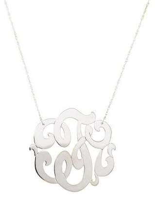 Jennifer Zeuner Jewelry Emily Large Swirly Initial F Pendant Necklace
