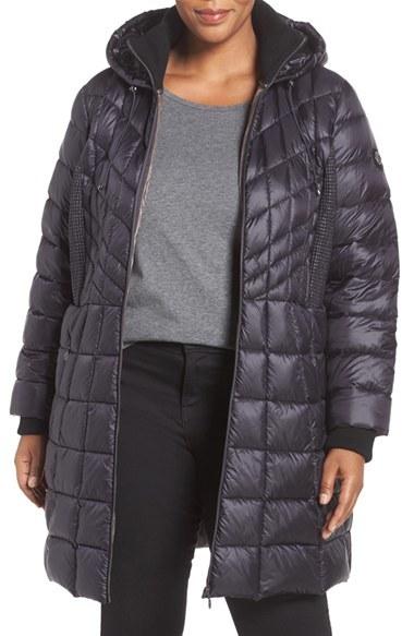 BernardoPlus Size Women's Bernardo Quilted Jacket With Down & Primaloft Fill