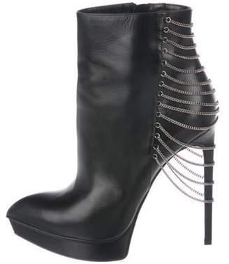 Saint Laurent Chain-Link Ankle Boots Black Chain-Link Ankle Boots