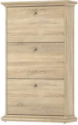 Tvilum Sonoma 3-Drawer Oak Finish Shoe Cabinet