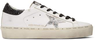 Golden Goose SSENSE Exclusive White Saturday Hi-Star Sneakers