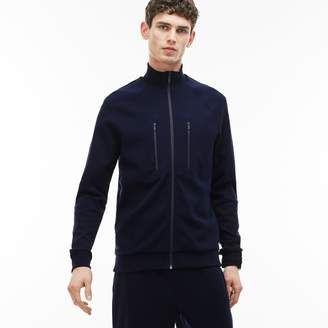 Lacoste Men's Zip Stand-Up Collar Cotton Milano Knit Sweatshirt
