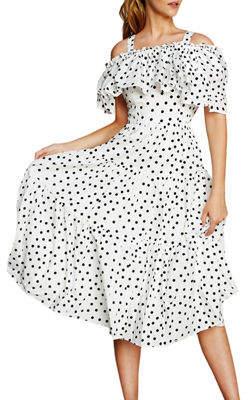 STYLEKEEPERS Girl Next Door Off-The-Shoulder Dress
