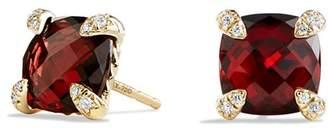 David Yurman Châtelaine Earrings with Garnet in 18K Gold