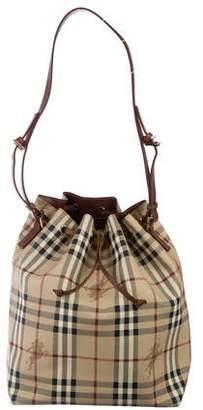 Burberry Haymarket Check Drawstring Bag