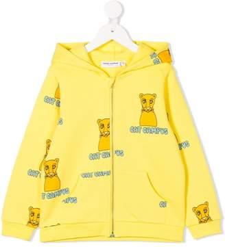 Mini Rodini Cat Campus zipped hoodie