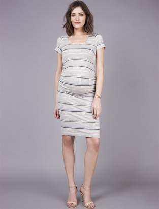 A Pea in the Pod Seraphine Side Ruched Maternity Dress