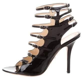 Emilio Pucci Patent Leather Caged Sandals