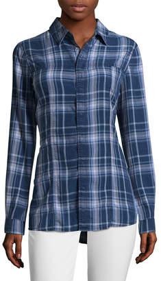 Hudson Jeans Pant Britt Plaid Button-Front Shirt