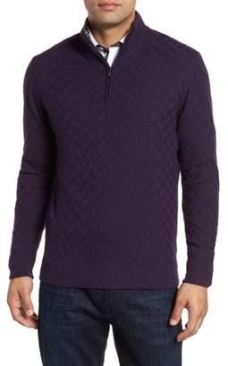Robert Graham Rowley Classic Fit Quarter Zip Sweater