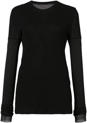 Proenza Schouler PSWL Gauze Long Sleeve Top