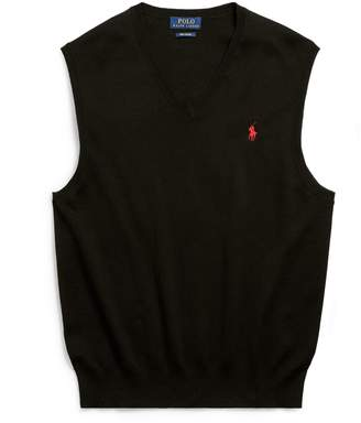 Ralph Lauren Cotton V-Neck Sweater Vest