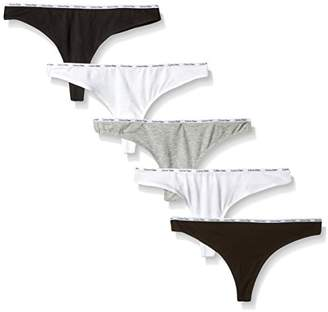 Calvin Klein Women's Signature Cotton 5 Pack Thong