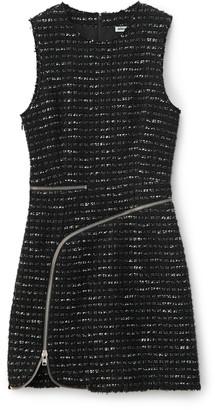 Alexander Wang Alexanderwang CURVED ZIPPER SHIFT DRESS