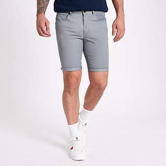 River Island Grey skinny fit shorts