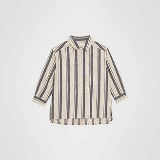 Burberry Striped Cotton Wool Shirt