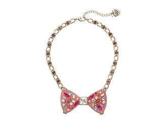Betsey Johnson Bow Pendant Necklace