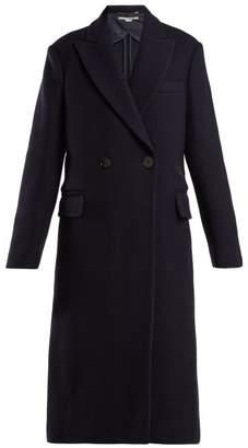 Stella McCartney Double Breasted Wool Coat - Womens - Navy