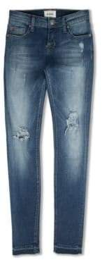 Hudson Toddler, Little,& Big Girl's Distressed Release-Hem Jeans