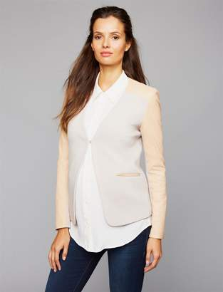 Isabella Oliver Pea Collection Salina Leather Detail Maternity Blazer