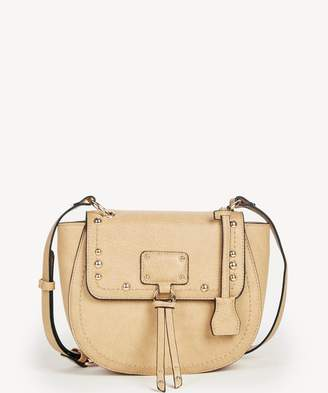 Sole Society Stark Studded Flapover Saddle Bag