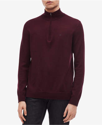 Calvin Klein Men's Classic Merino Wool Quarter-Zip Sweater