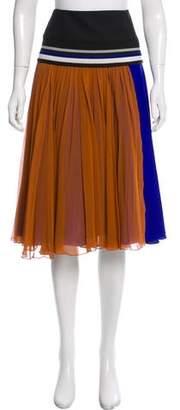 Bouchra Jarrar Pleated Chiffon Skirt w/ Tags