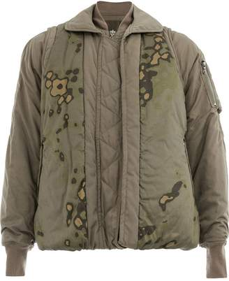 Julius abstract print bomber jacket