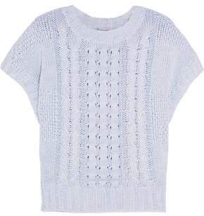 Autumn Cashmere Cotton Cable-Knit Sweater