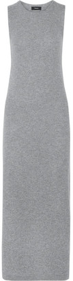 Theory - Dorada Cashmere Maxi Dress - Gray $475 thestylecure.com