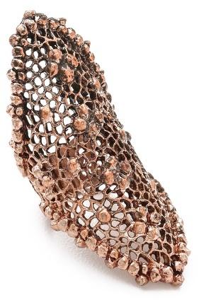 L'Agence Mesh Long Finger Ring