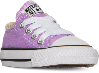 Converse Toddler Girls' Chuck Taylor All Star Ox Casual Sneakers from Finish Line $29.99 thestylecure.com