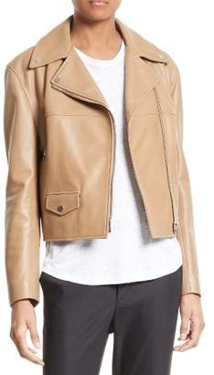 Women's Helmut Lang Lambskin Leather Biker Jacket $1,595 thestylecure.com