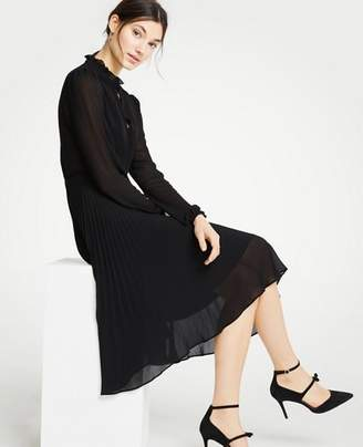 Ann Taylor Tall Pleated Flare Dress