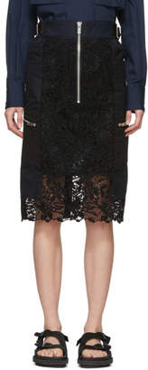 Sacai Black Chemical Lace Skirt